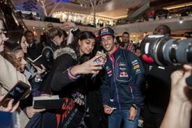 Fans were able to meet Ricciardo in Westfield London