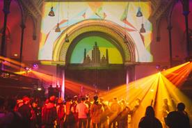 The party took place at Round Chapel in Hackney