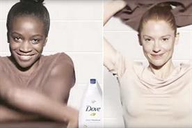 Dove sorry over ad showing woman turning from black to white