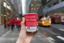 The Economist hands out free coffee to highlight impact of food waste