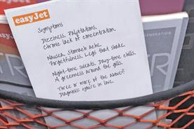 EasyJet asks customers to write poems on sick bags