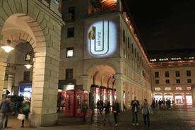 Fiat cars were projected around high footfall areas