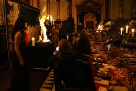 Guests were surprised with theatrics throughout the evening