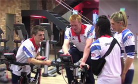 Team GB athletes test out Fitness First's latest gym equipment