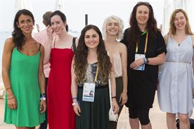 GoDaddy Scholarship for Women in Technology: Cox (second from right) with (l-r) Lytton, O' Murchu, Coughlan-Allen, Morris and Webb (Williams not pictured)
