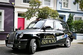 Green & Black's offers taxi rides in exchange for a selfie