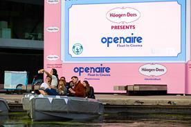 Haagen-Dazs partners Openaire for floating cinema experience