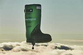 Hunter takes to the skies with world's first flying welly