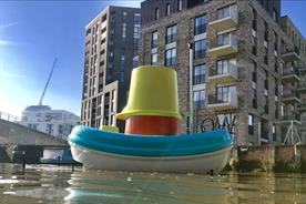 Ikea giant bath toy sets sail to clear rubbish from waterways