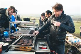Chef James Martin dished up burgers and subs to special guests