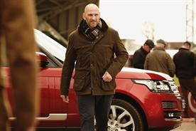 Barbour: rugby collections model and ex-England Rugby captain Lawrence Dallaglio