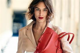 Alexa Chung: in one of her campaigns for Longchamp