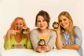 Jo King, Iona Wolff and Holly Wood were among the first people to receive the personalised jars