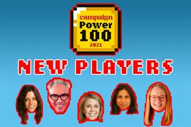 Power 100 2021: 20 debutant marketers this year including (from l to r) Maugest, Schoolcraft, O'Connor, Barlet-Batada and Harricks