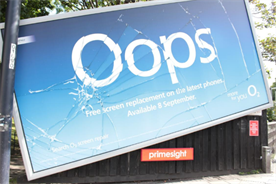 O2 runs 'broken' billboards to show off screen replacement offer