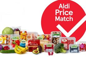 Tesco: hundreds of its products will be matched to Aldi prices