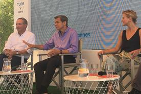 Cannes Lion: P&G chief brand officer Marc Pritchard (centre)