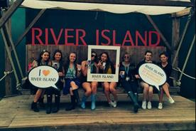 River Island's activations featured a selfie swing and VIP lounge (@riverisland)