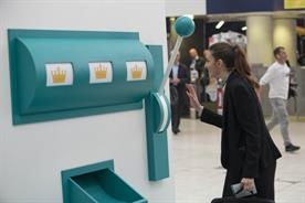 Deliveroo: the food delivery start-up has installed a giant slot machine in Waterloo