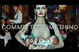 Commit to something: Lydia Hearst breastfeeding twins in a restaurant