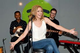 Cool brand offices: popstar Kylie Minogue at a Spotify gig