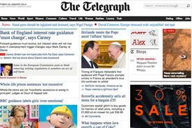 Telegraph traffic rises 30% to record 72m monthly browsers