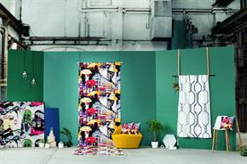 Fabrics on display at TfL's stand at Design Junction 2016