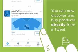 Twitter: testing its Buy button with selected brands and artists