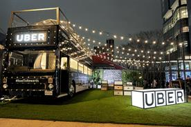 Uber creates double decker bus dining experience at SXSW