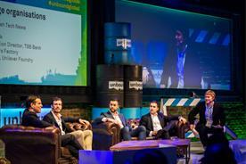 From left to right: Brent Hoberman, Unilever Foundry's Jonathan Hammond, Alon Zadka and Pol Navarro