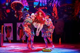 The production is a reworking of Lewis Carroll's Alice in Wonderland (Brinkhoff/Mögenburg)
