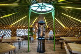 Yurt Lush is housed within three Mongolian yurts