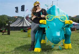 EE creates 'Charging Bull' for Glastonbury