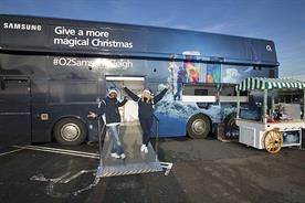 Samsung and O2 launch experiential Christmas bus tour