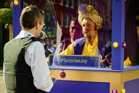 Freddie Flintoff dressed as a genie and gave away personalised prizes