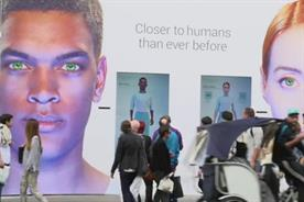 Shoppers could interact with a male and female 'Synth'