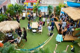 The Coconut Watering Hole was in situ at Boxpark in Shoreditch (Julian Dodd)