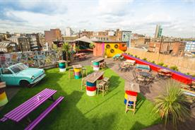 Outdoor venues: Queen of Hoxton's rooftop event space in London