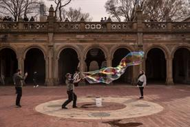 Creativity thrives in an abandoned Central Park, New York City