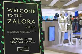 Zalora's 'clicks-and-mortar' outlet.