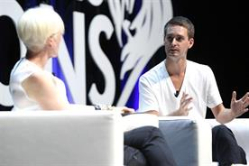 Joanna Coles and Evan Spiegel: at Cannes Lions 2015.
