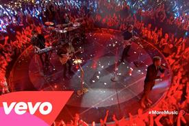 Band Imagine Dragons performs in Deutsch LA produced ad.