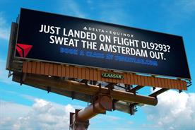 Real-time flight data used for first time in OOH drive by Delta