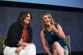 McCann New York President Devika Bulchandani (L) and Ulta Beauty SVP Brand Marketing Shelley Haus (R)