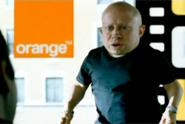 Orange 'verne troyer gold spot' by Mother London