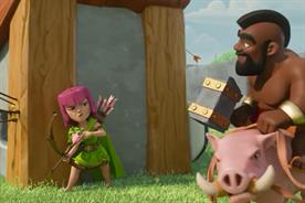Mobile game heads to small screen in series of TV ads.