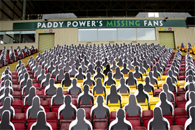 Paddy Power fills Motherwell FC's stadium with 'missing fans'