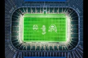 Watch: Artists create UK's biggest painting at Twickenham for rugby restart