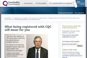 Opening your CQC registration account