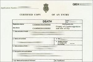 The importance of the death certificate